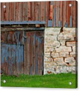 Weathered Barn Door Acrylic Print