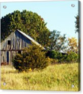 Weathered Barn In Fall Acrylic Print