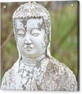 Weathered Buddha Statue Acrylic Print