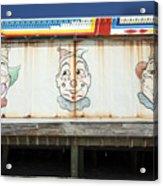Weathered Clowns Acrylic Print