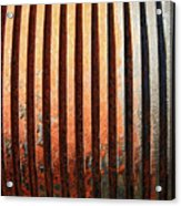 Weathered Metal With Rows Acrylic Print