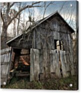 Weathered Old Abandoned Barn Acrylic Print
