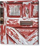 Weathered Red Door 1 Acrylic Print