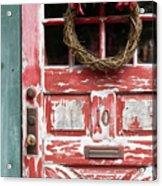Weathered Red Door 3 Acrylic Print
