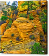Weathered Rock Acrylic Print