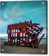 Weathered Rusting Shipwreck Acrylic Print