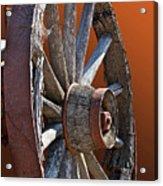 Weathered Wagon Wheel  Acrylic Print