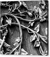Weathered Wall Art In Black And White Acrylic Print