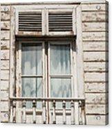 Weathered Window Balcony Acrylic Print