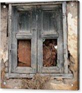Weathered Wood Window Acrylic Print