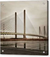 Weathering Weather At The Indian River Inlet Bridge Acrylic Print