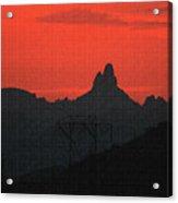 Weaver Needle Sunset Acrylic Print
