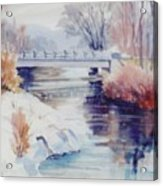 Weber River Bridge Acrylic Print