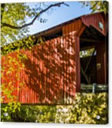 Webster/dick Huffman Covered Bridgesw Of Putnamville, Washingto Acrylic Print