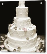 Wedding Cake Petals Acrylic Print