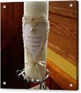 Wedding Candle  Acrylic Print