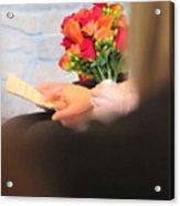 Wedding Hands Acrylic Print