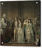 Wedding Of George Washington And Martha Acrylic Print by Everett