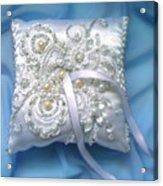 Wedding Ring Pillow. Ameynra Beadwork Acrylic Print