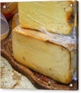 Wedges Of Ripe Cheese Wrapped Acrylic Print