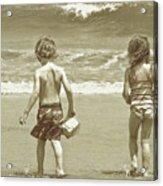 Wee Beachcombers Acrylic Print