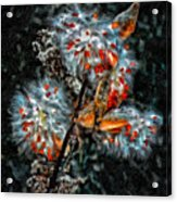 Weed Galaxy Painted Version  Acrylic Print