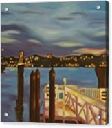 Weehawken From Pier 78 Acrylic Print by Milagros Palmieri