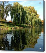 Weepin Willows Frankenmuth Cass River Acrylic Print