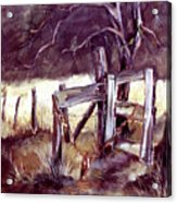 Weighted Gate -feather River Park Acrylic Print