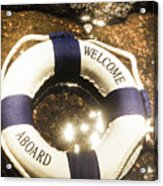 Welcome Aboard Nautical Paradise Acrylic Print