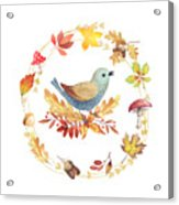 Welcome Back Autumn Acrylic Print