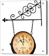 Welcome Clock.11 Am Acrylic Print