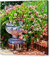 Welcome Flower Urn Steps Acrylic Print