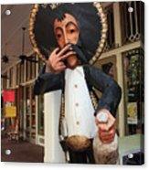 Welcome To El Mercado Acrylic Print