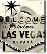 Welcome To Fabulous Las Vegas Nevada Acrylic Print by Leslie Leda