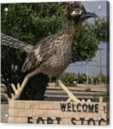 Welcome To Fort Stockton Acrylic Print