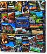 Welcome To Harrison Arkansas Acrylic Print by Kathy Tarochione