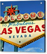 Welcome To Las Vegas Sign Acrylic Print by Garry Gay