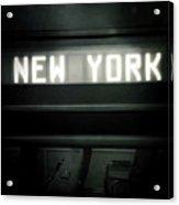 Welcome To New York Acrylic Print