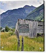 Welcome To Telluride Colorado Acrylic Print