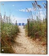Welcome To The Beach Acrylic Print
