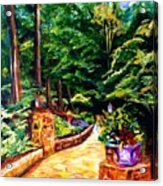 Welcome To The Garden Acrylic Print