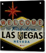 Welcome To Vegas Knights Sign Digital Drawing Acrylic Print