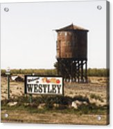 Welcome To Westley Acrylic Print