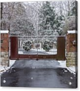 Welcome To Winter Acrylic Print
