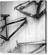 Well Worn Mountain Bike Frames  Acrylic Print by Gray  Artus