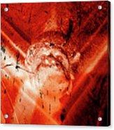 Wells Cathedral Gargoyles Color Negative D Acrylic Print