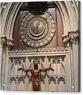 Wells Cathedral Geocentric Clock Acrylic Print