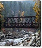 Wenatchee Bridge Digital Painting Acrylic Print