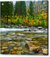 Wenatchee River Acrylic Print by Dan Mihai